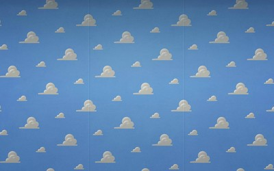 Toy Story cloud pattern wallpaper