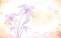 Translucent purple lilies wallpaper 1920x1200 jpg