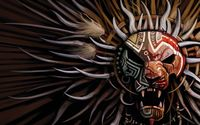 Tribal mask wallpaper 1920x1080 jpg