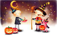 Trick or treaters wallpaper 1920x1200 jpg
