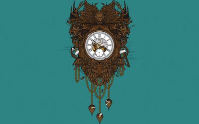 Victorian clock wallpaper