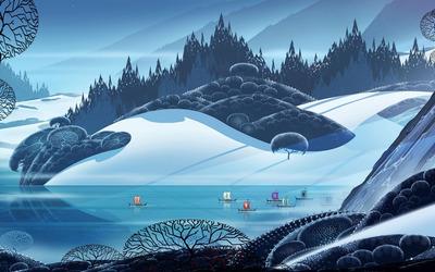 Viking ship race wallpaper