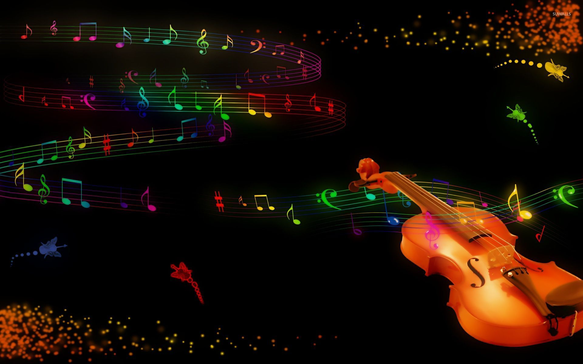 Violin and notes wallpaper - Digital Art wallpapers - #31635