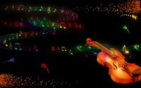 Violin and notes wallpaper 1920x1200 jpg