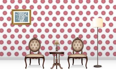 Waiting room wallpaper
