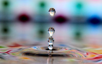 Water drop and ripple wallpaper