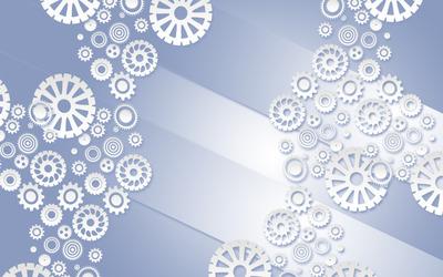 White gears wallpaper