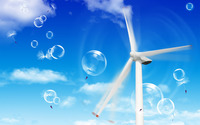 Windmill and bubbles wallpaper 1920x1200 jpg