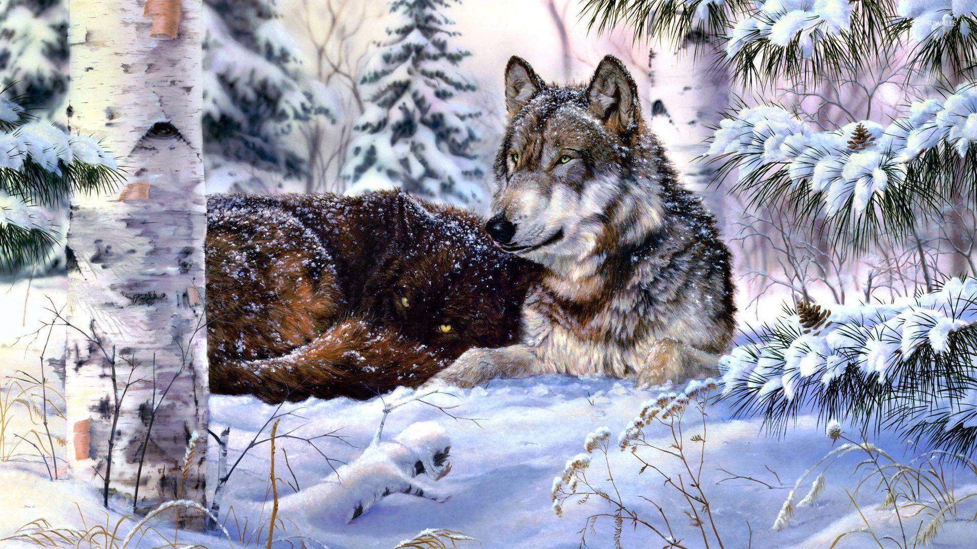 Nevada Wolf Pack Wallpaper: Digital Art Wallpapers