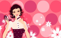 Woman putting on her make-up wallpaper 1920x1200 jpg
