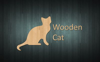 Wooden cat wallpaper