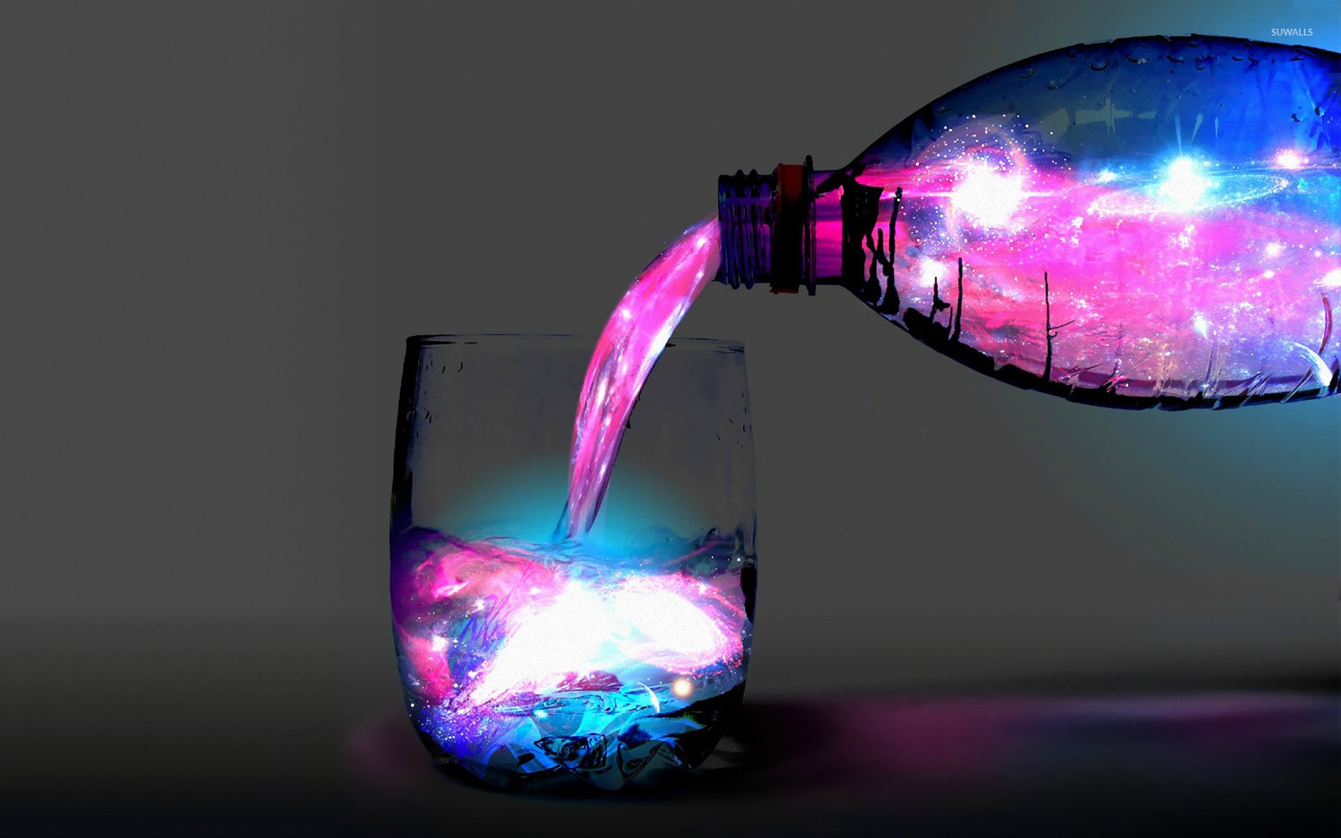 A Glass Of Space Wallpaper