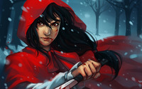 Aggressive Red Riding Hood wallpaper 1920x1200 jpg
