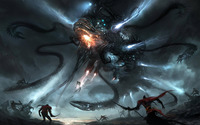 Alien ship with tentacles wallpaper 1920x1200 jpg