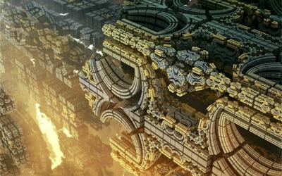 Alien structure wallpaper