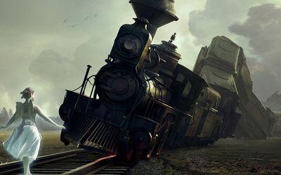 Angel derailing the train wallpaper