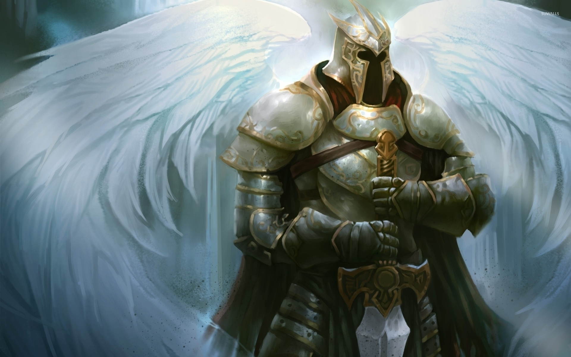 hd wallpaper angel warrior | 1920x1200 | 208 kB by Branch MacDonald