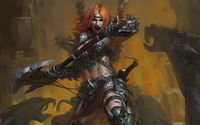 Angry female warrior wallpaper 1920x1200 jpg
