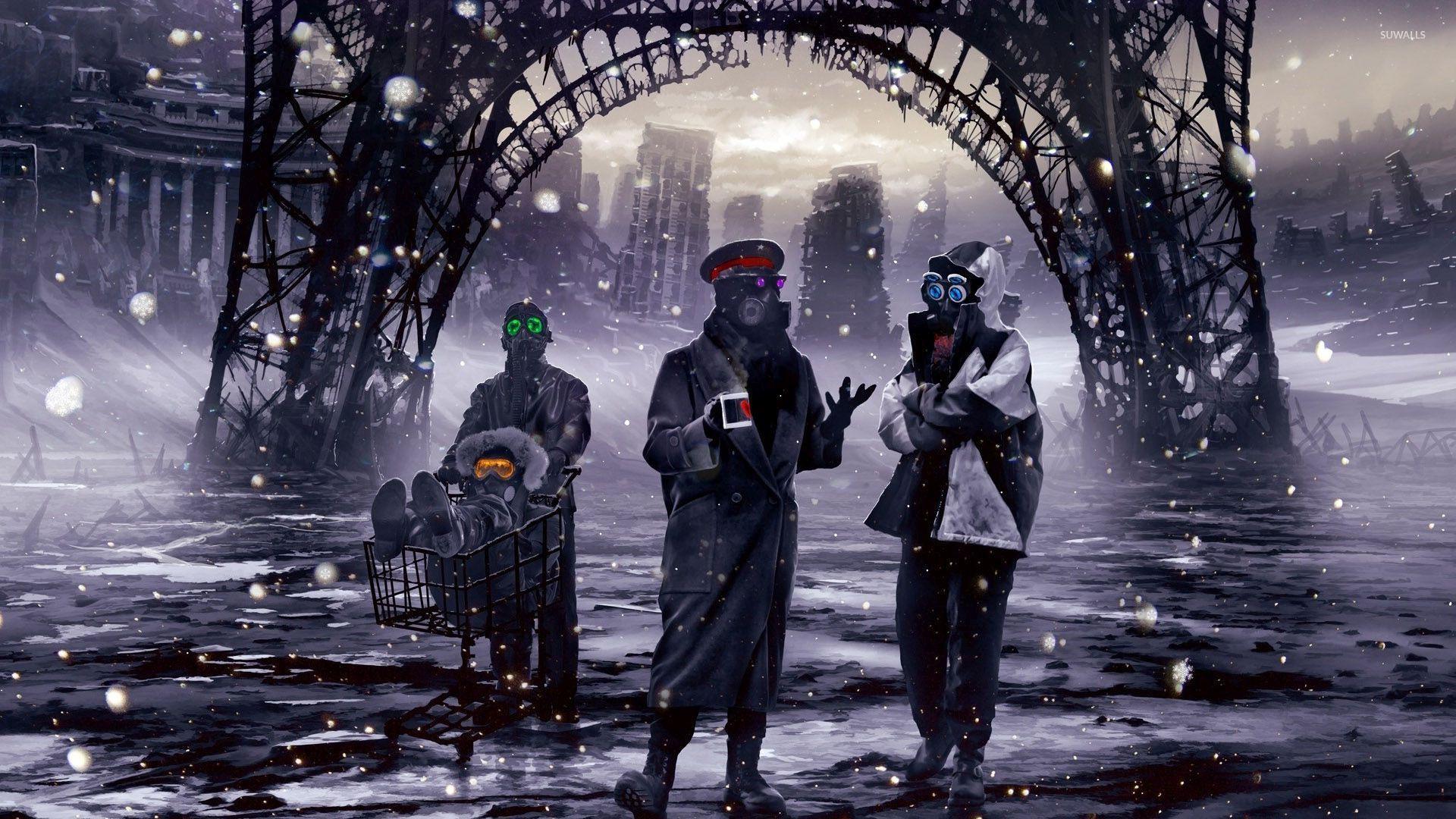apocalypse in paris wallpaper fantasy wallpapers 46150