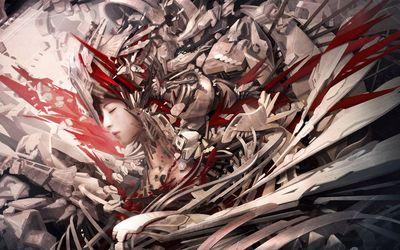 Armored warrior girl wallpaper