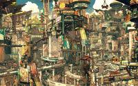 Asian Cityscape wallpaper 1920x1200 jpg
