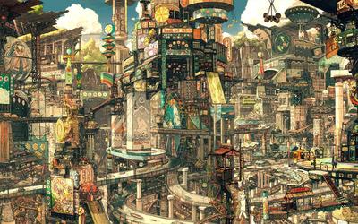 Asian Cityscape wallpaper