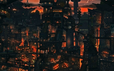 Asian cityscape [3] wallpaper