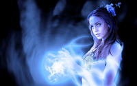 Beautiful blue eyed witch wallpaper 1920x1200 jpg