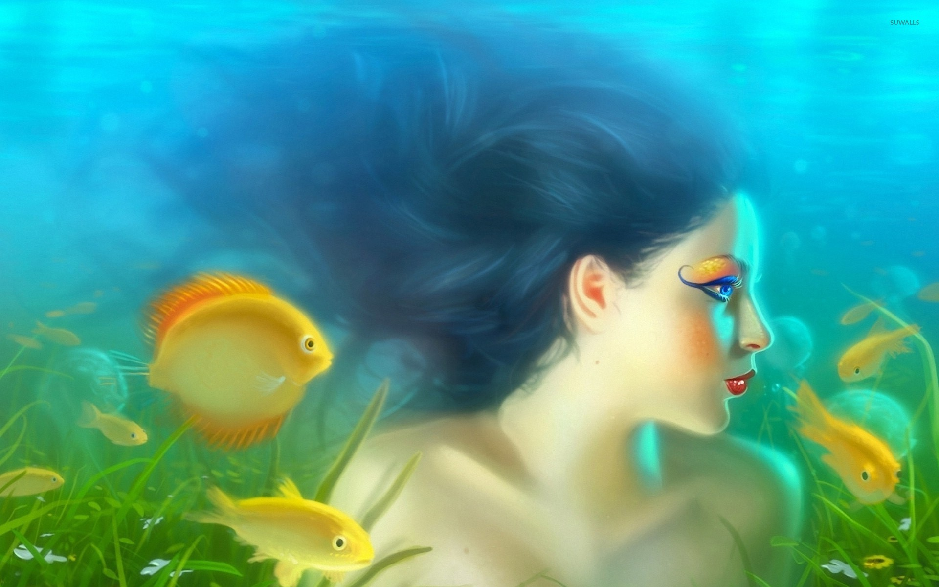 wallpaper beautiful mermaid pictures - photo #12
