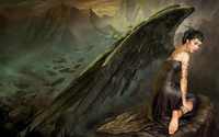 Black angel wallpaper 1920x1200 jpg