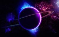 Blue and purple planet wallpaper 2880x1800 jpg