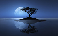 Blue moon over the water wallpaper 2560x1600 jpg
