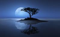 Blue moon over the water wallpaper 2560x1600 jpg