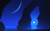 Blue night wallpaper 2560x1440 jpg