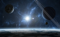 Blue planets wallpaper 2560x1600 jpg
