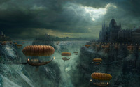 Boat Zeppelins wallpaper 1920x1200 jpg