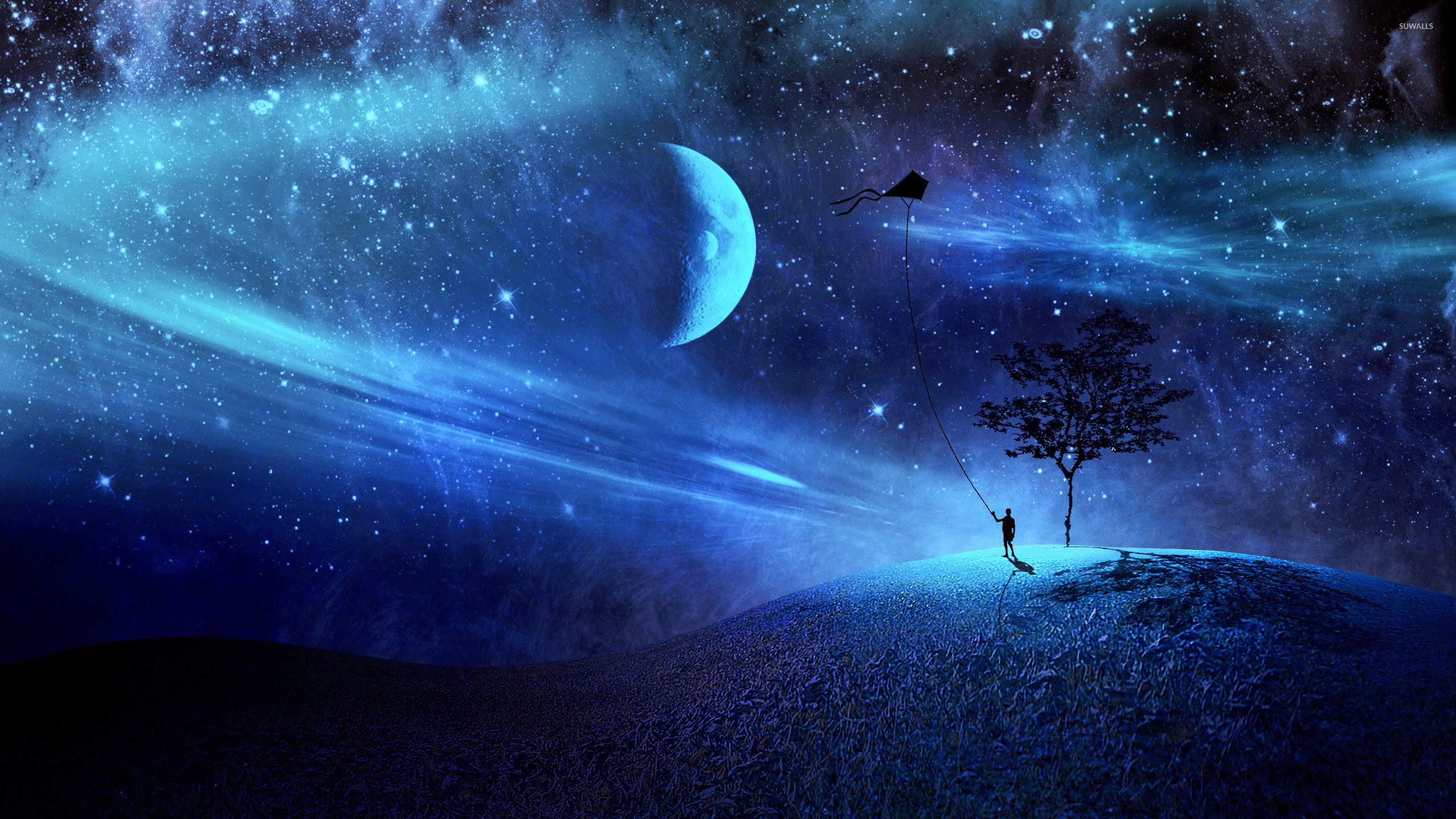Good Wallpaper Night Blue - boy-with-his-kite-in-a-blue-night-25631-2560x1440  Pictures.jpg