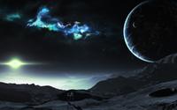 Bright star reaching from a nebula wallpaper 2560x1600 jpg