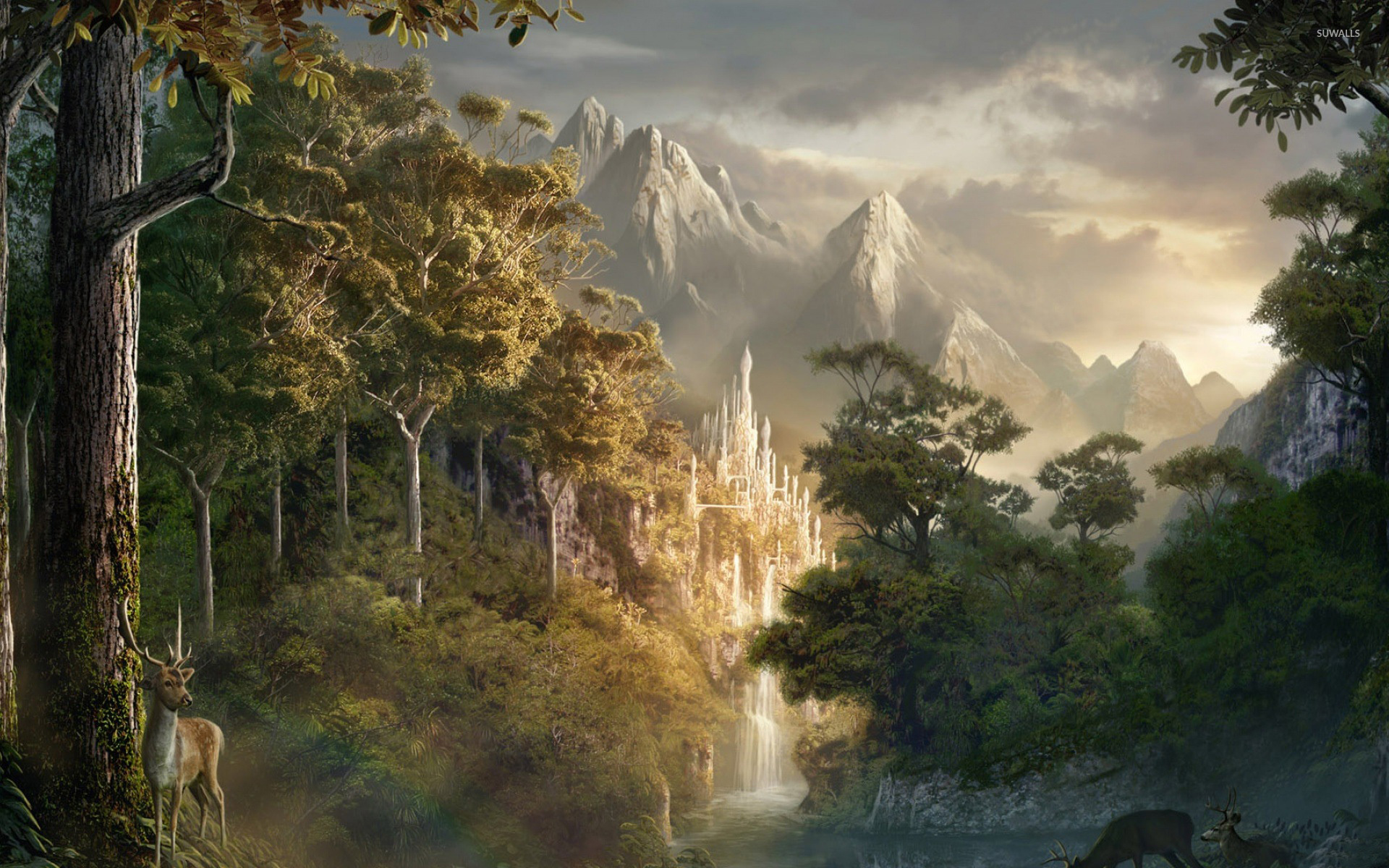 Wonderful Wallpaper Mountain Fantasy - castle-in-the-mountains-4381-1920x1200  Collection_88269.jpg