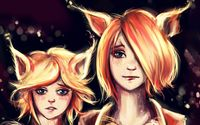 Cat eared girls wallpaper 2560x1440 jpg