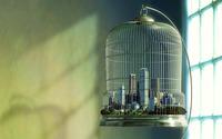 City in a birdcage wallpaper 1920x1200 jpg