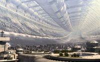 City in a tunnel wallpaper 1920x1200 jpg