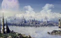 City in the  clouds wallpaper 1920x1200 jpg