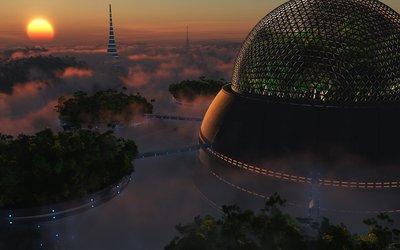 City in the Sky wallpaper