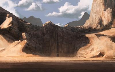 Cliff city [2] wallpaper