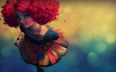 Clown girl wallpaper