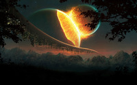 Colliding Planets wallpaper 1920x1200 jpg