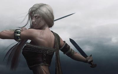 Cute viking warrior girl wallpaper