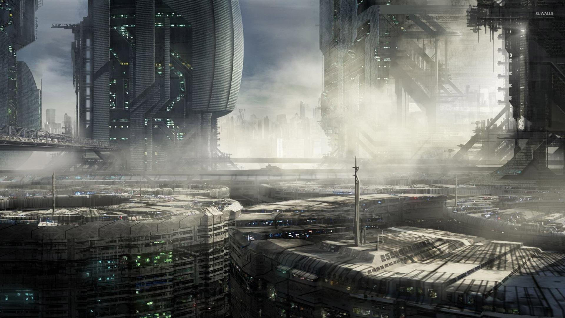 Cyberpunk architecture wallpaper  Fantasy wallpapers  29992