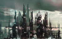 Cyberpunk asian city wallpaper 1920x1200 jpg